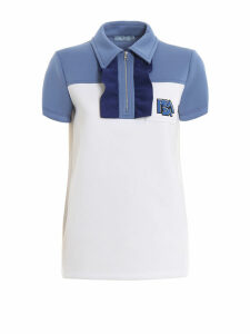 Prada Color Block Polo Shirt