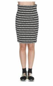 Balmain Balmain Stripe Logo Skirt