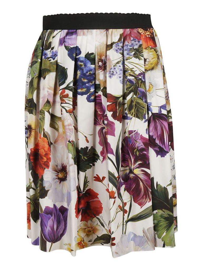 Dolce & Gabbana Floral Midi Skirt