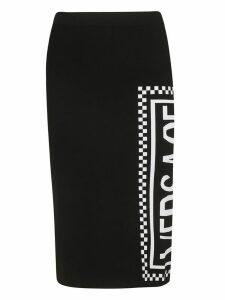 Versace Logo Print Fitted Skirt