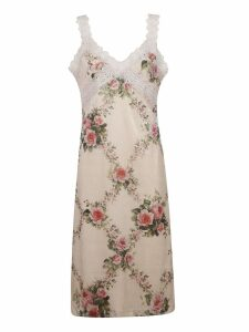 Blumarine Lace Floral Dress