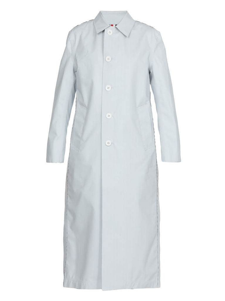 Thom Browne Reversible Coated Wool Raincoat
