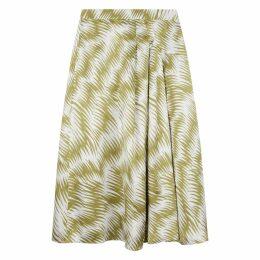 NICOLE FARHI Basil Julie Silk Drape Slip Skirt