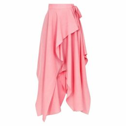 JW Anderson Pink Brushed Twill Wrap Skirt