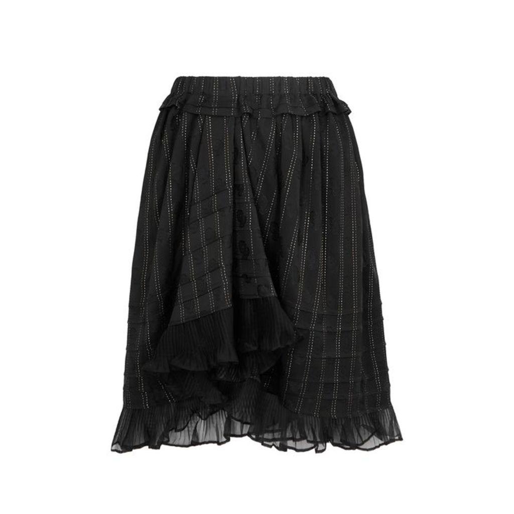 Isabel Marant Marthe Black Jacquard Skirt