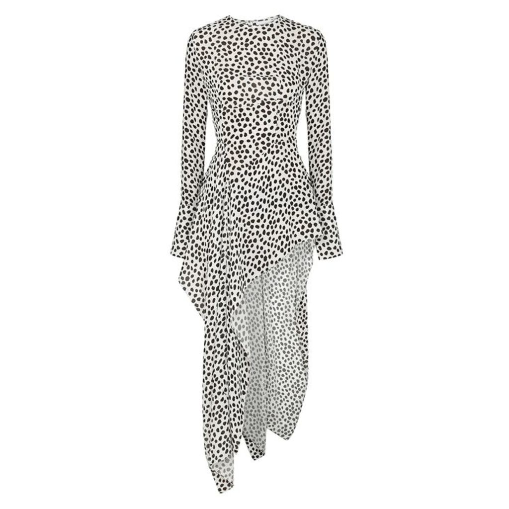 16 Arlington Dalmatian-print Asymmetric Top