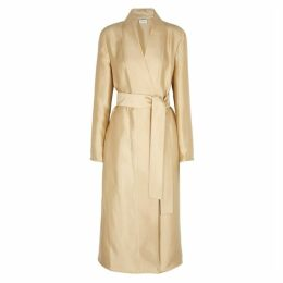 THE ROW Nania Champagne Silk Coat