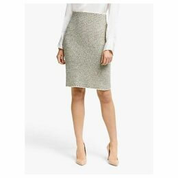 Winser London Cotton Tweed Pencil Skirt