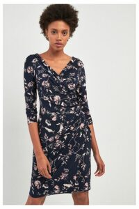 Womens Lauren Ralph Lauren Elsie Floral Long Sleeve Dress -  Blue