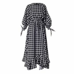 Meem Label - Farrah Black Check Maxi Dress