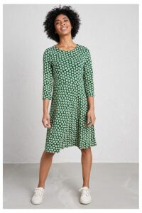Womens Seasalt Green Longor Dress Porthmeor Daisy Sycamore -  Green