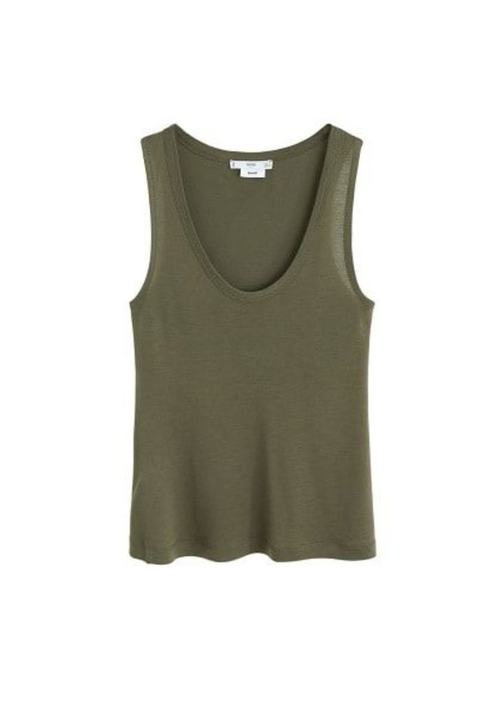 Soft fabric top
