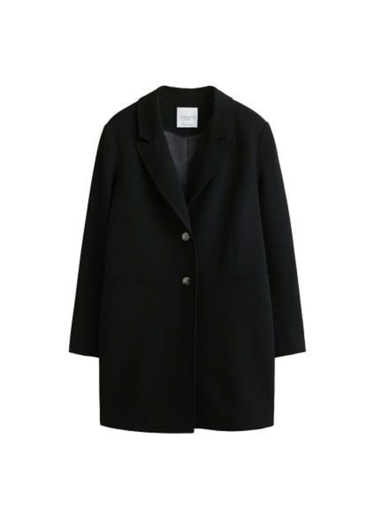 Lapelled straight-cut coat