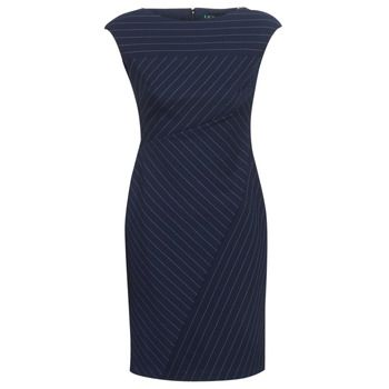 Lauren Ralph Lauren  CAP SLEEVE-DAY DRESS  women's Dress in Blue