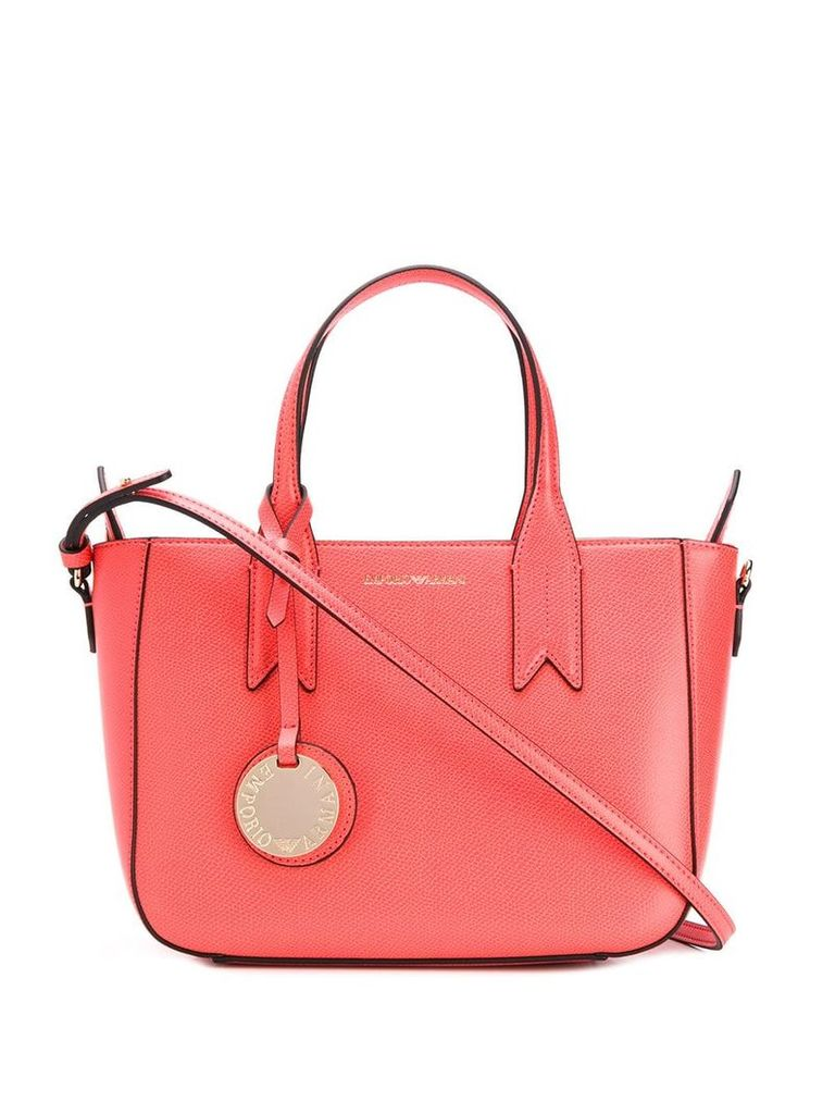 Emporio Armani logo top-handle tote - Pink