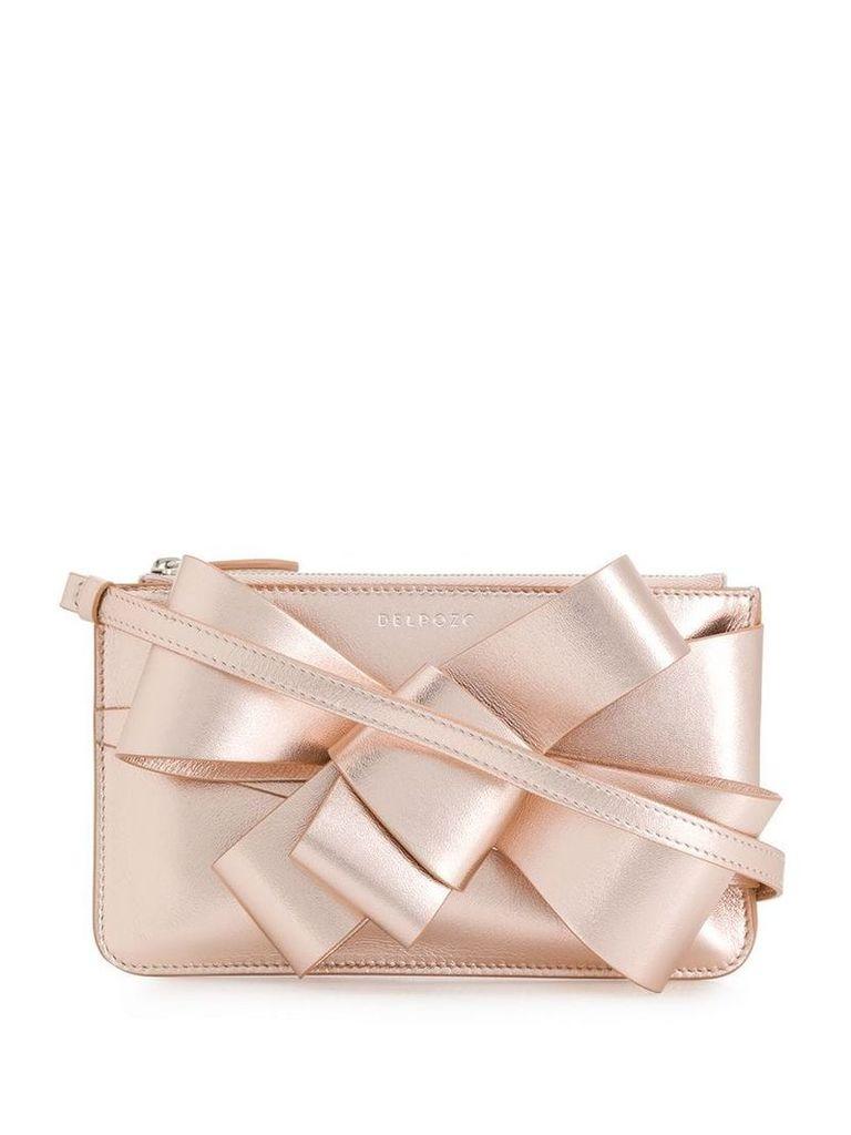 Delpozo Present ribbon clutch - Pink