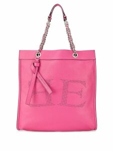 Ermanno Scervino perforated detail tote - Pink