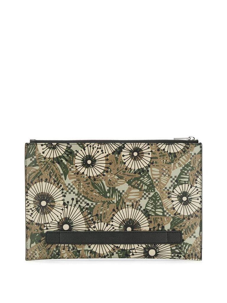 Furla retro print pouch - Green