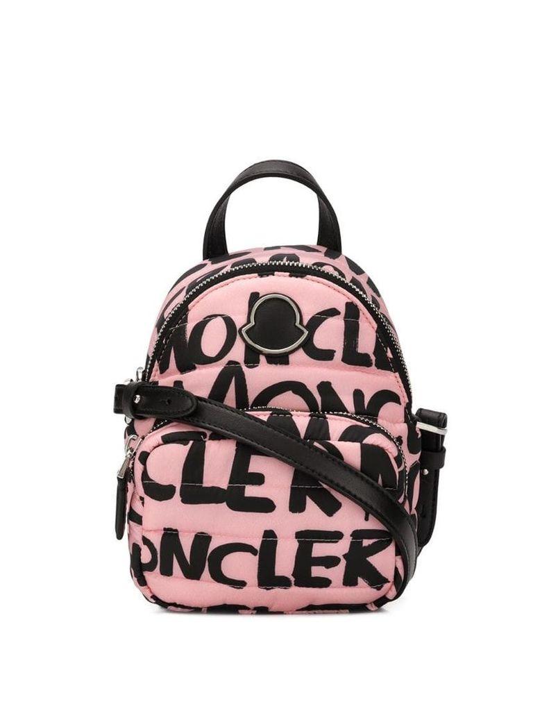 Moncler logo shoulder bag - Pink