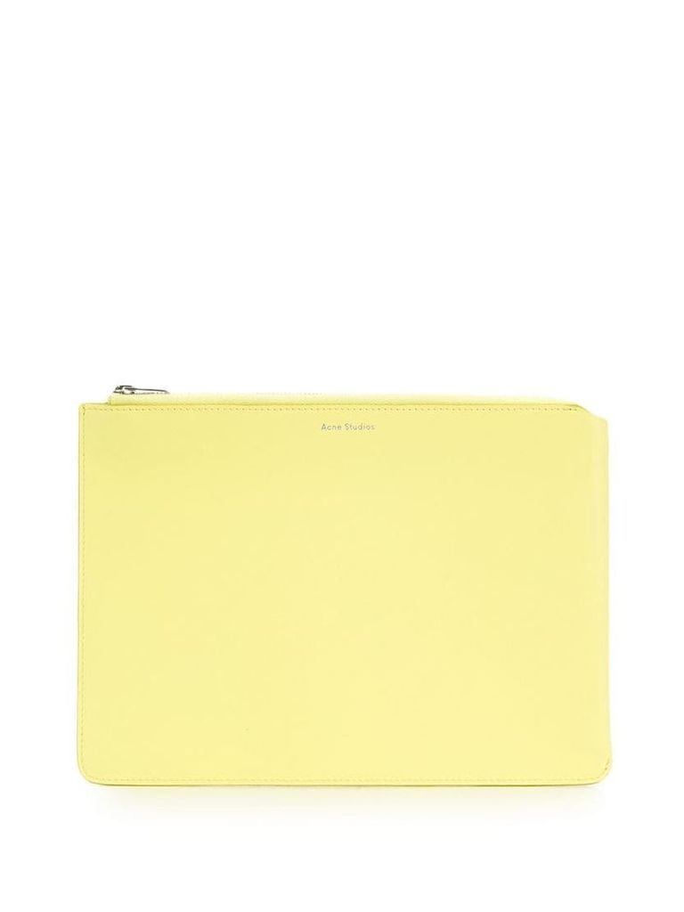 Acne Studios Malachite S zipped pouch - Yellow
