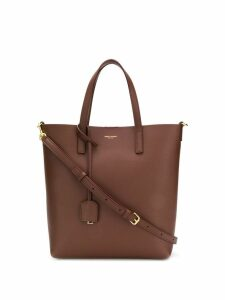 Saint Laurent logo tote bag - Brown