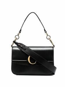 Chloé medium C ring shoulder bag - Black
