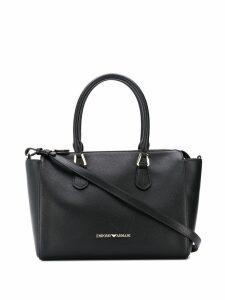 Emporio Armani logo top-handle tote - Black