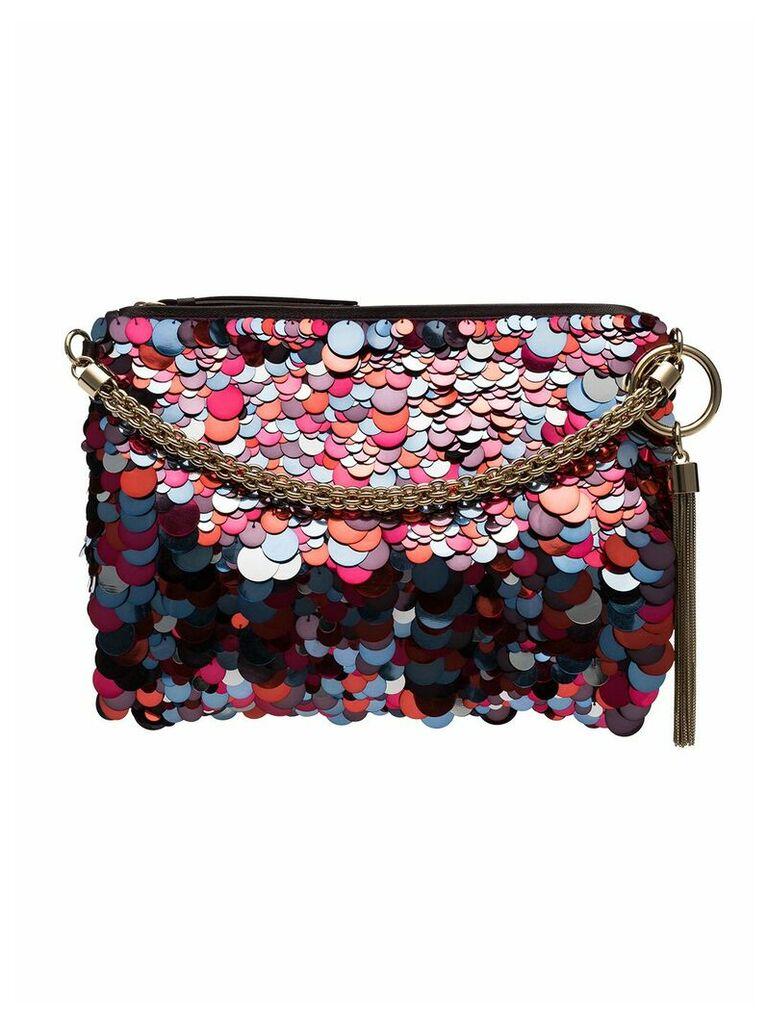 Jimmy Choo Callie sequin shoulder bag - Raspberry Mix