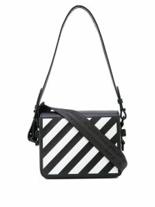 Off-White diagonal print shoulder bag - Black