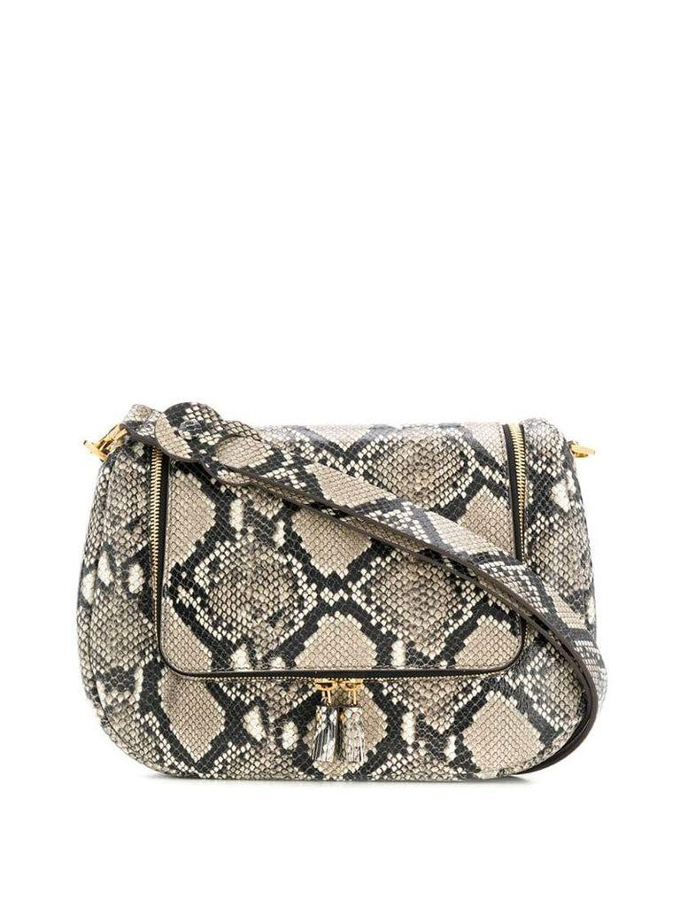 Anya Hindmarch Vere soft satchel in python print - Neutrals