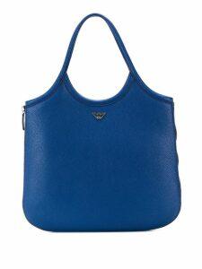 Emporio Armani logo shopper tote - Blue