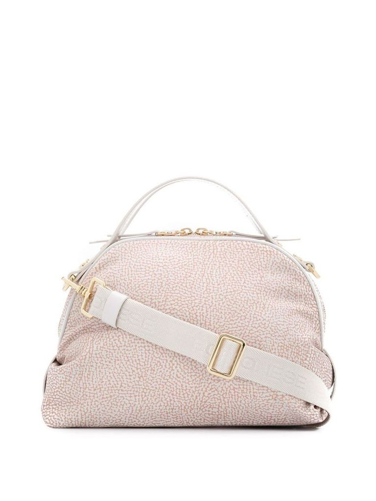 Borbonese micro print cross body bag - Neutrals