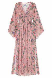 Anjuna - Renata Floral-print Gauze Maxi Dress - Baby pink