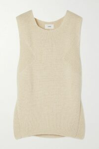 By Malene Birger - Asymmetric Pleated Crepe Midi Skirt - Cream