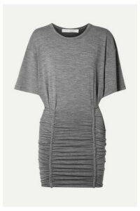 IRO - Speedy Ruched Stretch-jersey Mini Dress - Gray