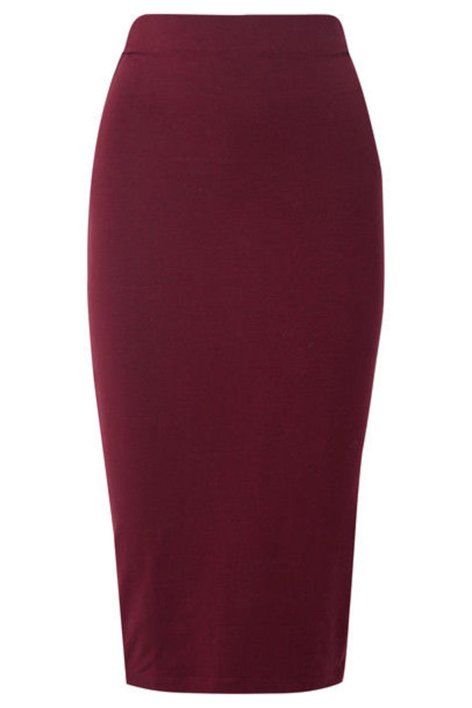 Ninety Percent - Stretch-tencel Midi Skirt - Burgundy