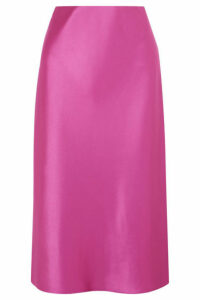 Nanushka - Zarina Stretch Hammered-satin Midi Skirt - Fuchsia