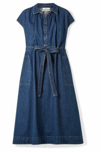Co - Belted Denim Dress - Indigo
