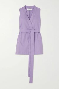 Max Mara - Twist-front Wool-twill Midi Skirt - Beige
