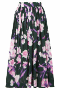 Dries Van Noten - Floral-print Cotton-poplin Midi Skirt - Pink
