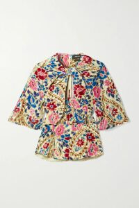 REJINA PYO - Lily Button-detailed Organza Midi Skirt - Blue