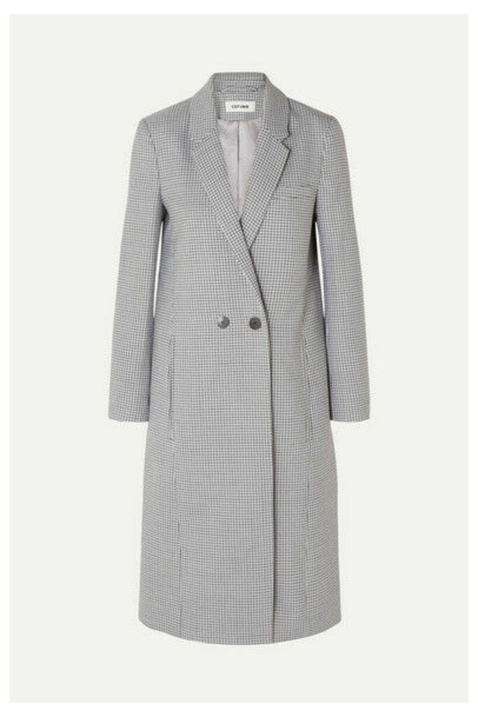 Cefinn - Houndstooth Wool-blend Coat - Blue