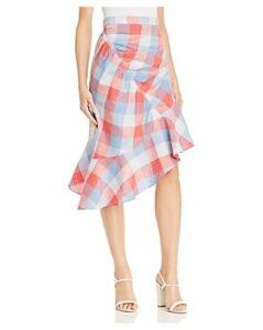 Parker Astrid Plaid Asymmetric Skirt