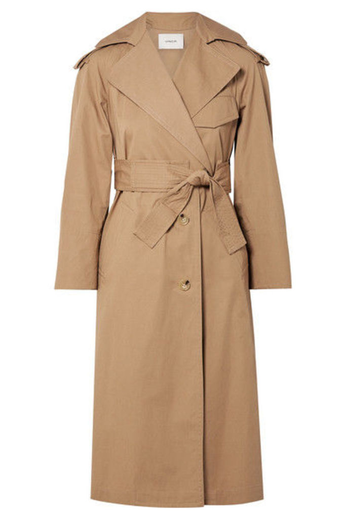 Vince - Cotton-canvas Trench Coat - Sand