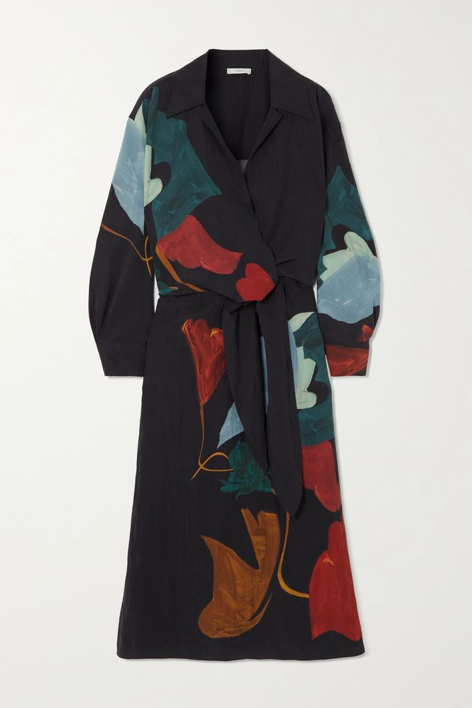 Self-Portrait - Guipure Lace-trimmed Crepe Maxi Dress - Black