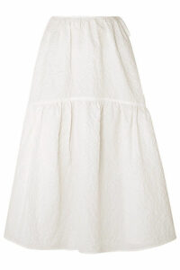 Cecilie Bahnsen - Rosemary Tiered Cotton-blend Cloqué Skirt - White