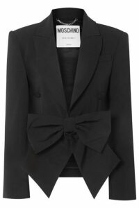 Moschino - Bow-detailed Cady Blazer - Black