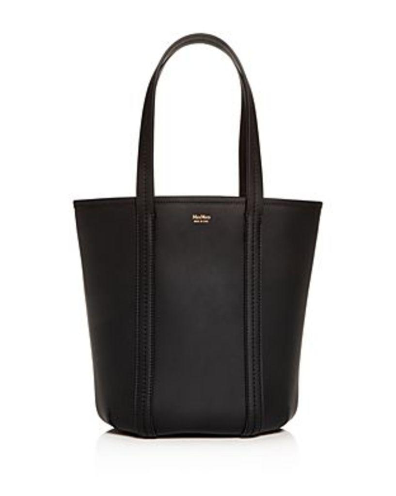 Max Mara Teresa Leather Bucket Bag