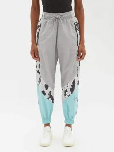 La Doublej - Salsa Geometric Print Tiered Cotton Midi Skirt - Womens - Red Print