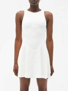 La Doublej - Easy Peasy Orchidea Fil Coupé Twill Midi Dress - Womens - Pink Print